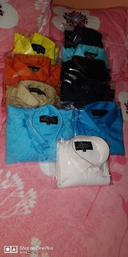 Lishwan Mens Wear Plain Casual Shirts