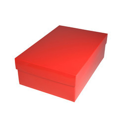 Red Corrugated Shoes Box