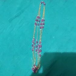 Modern Beaded And Shell Stone Artificial Neck Chain, Size: Medium