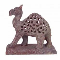 Soapstone Undercut Camel Sculpture