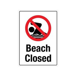 Bleach Closed Safety Sign Board