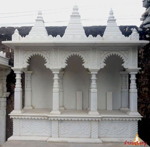 Indoor White Marble Home Temple, Size: 5