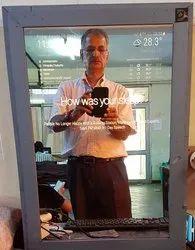 Glass Rectangular Interactive Mirror
