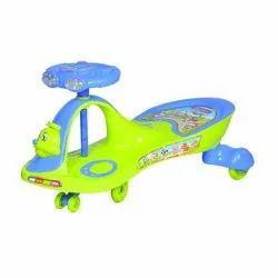 Blue And Green Self Propelled Magical Car, For Play School,Personal
