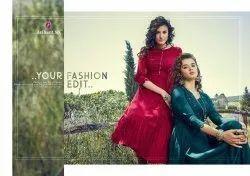Zoella -Arihant Nx Traditional Designer Soft Cotton Silk With Hand Work Long Kurtis