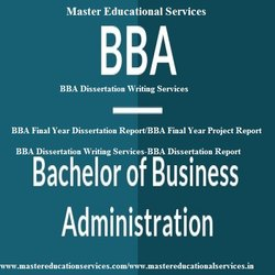 Bangalore BBA Dissertation Writing Services
