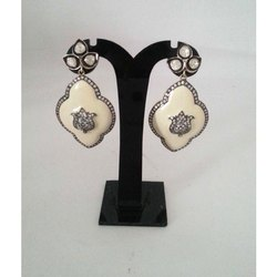 Silver Polki Earring