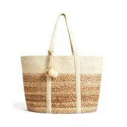 High Quality Jute Shoulder Bag Large Handbags Jute Shopping Bags