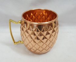 Diamond Cut Copper Mug