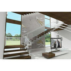 Flat Glass Stair Railing