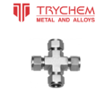 Trychem Ss 304 And Ss 316 Stainless Steel Union Cross, Size: 1/2 Inch And 1 Inch