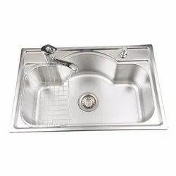 Stainless Steel Designer Single Bowl Kitchen Sinks, Finish Type: Galvanized