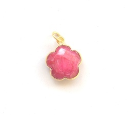 Ruby Flower Pendants