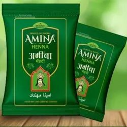 Natural Amina Henna Herbal, For Personal, Packaging Type: Packet
