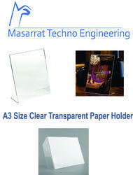 Acrylic Clear Transparent L Shaped Best Paper Holder A3 Size