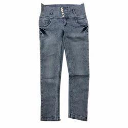 Ladies Stretchable Denim Jeans, Waist Size: 26-32
