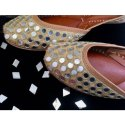 Genuine Soft Leather and Comfortable Office Ladies Juttis Ethnic Flat Shoes