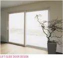 Deceuninck Pristine White Lift And Slide Upvc Door, Exterior