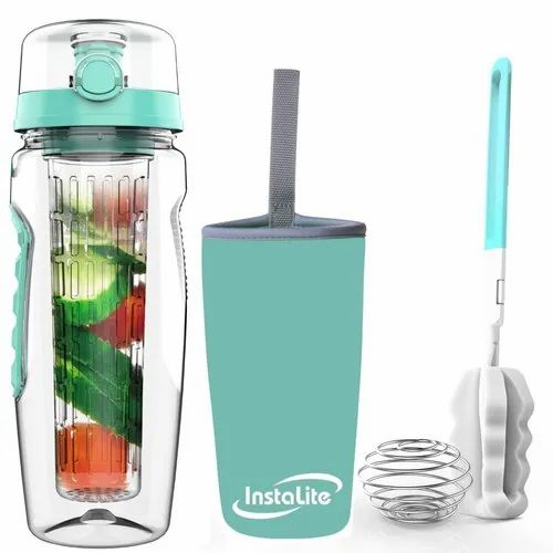 24a559090e INSTALITE Black,Rose Gold Fruit Infuser Water Bottle, Capacity: 1 Litre