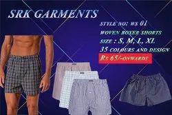 Thigh Length WS01 Woven Boxer Shorts