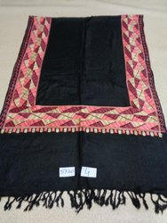 viscose with border embroidery stole