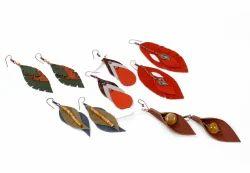Suvaska Leather Earnings, Shape: Earing
