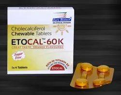 Cholecalciferol(Vit. D3)1000 I.U & 60,000 I.U. Tablets
