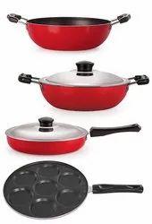 Nirlon Non-Stick Aluminum Cookware Set, 4-Pieces