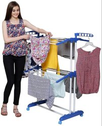 Parasnath Rust Free Floor Mounted Clothes Drying Stand Stainless Steel Floor