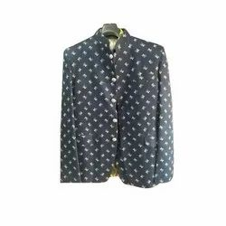 Mens Party Wear Printed Coat, Size: S-XL
