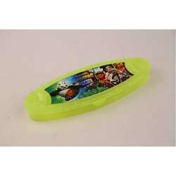 Green Plastic Pencil Box