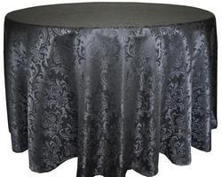 Kinkob Jacquard Crush Hotel Banquet Table Cover, Size: Diameter 90 Inch