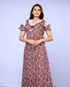 Women Multicolor Night Gown