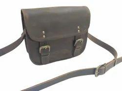 Rustic Leather Cross Body Saddle Bag