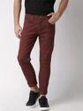 Mehroon Cotton Trouser For Men