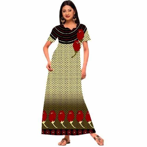 5e95a8955 Ladies Half Sleeves Cotton Nighty DN2290