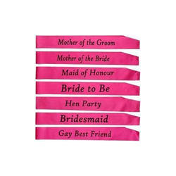 1-2 Days Personalised Sashes Printing Services, Size: 4