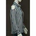 Women Full Sleeves Striped Shirt