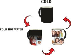Perfect Gift Color Changing Magic Photo Mug Personalized with Your Photo, Messages and Caption