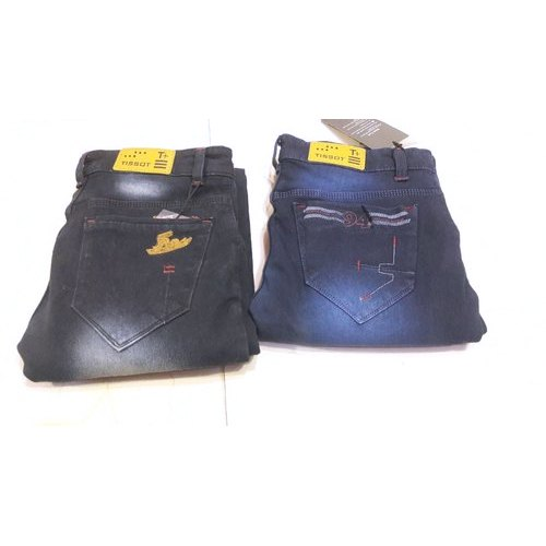 Tissot Mens Designer Faded Denim Jeans, Waist Size: 34