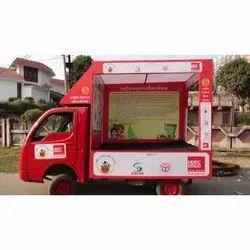 Banner Flex Mobile Vans Advertisement Services, in UP, Out Door