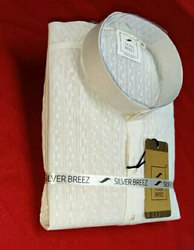 White Knee Long Pure Giza Cotton Men's Kurtas