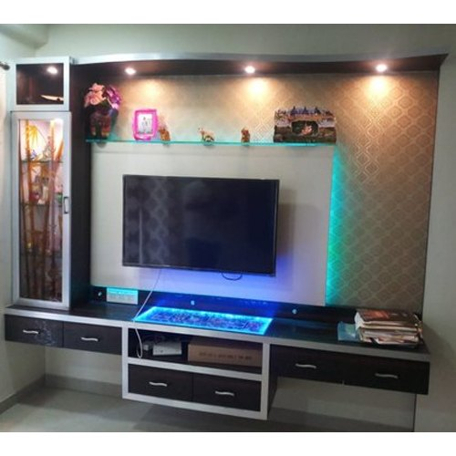 Plywood Wooden Wall Mounted Designer Tv Unit Features Waterproof Warranty 10 15 Years Rs 25000 Piece Id 21588466973