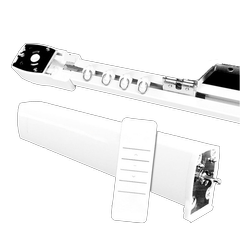 White Aluminium Remote Control Curtain Track