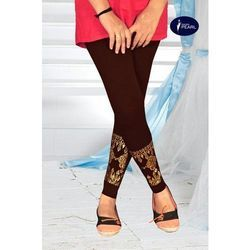 Pearl Straight Fit Ladies Stylish Leggings, Size: Small