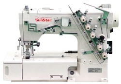 High-Speed, 2-Needle, Chain Stitch, Sewing Machine with Auto