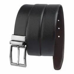 Honey Black Leather Belt
