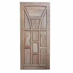 Brown Rectangular Teak Wood Door, For Home, Office etc, Thickness: 10-30 Mm