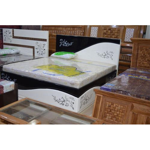 New Po Finish Standard Designer Double Bed Pu Finish With