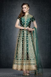 Embroidered Churidar Kameez